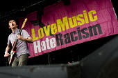Drew McConnell, Babyshambles plays Love Music Hate Racism Carnival celebrates the anniversary of Rock Against Racism. Victoria Park, East London. - Jess Hurd - 27-04-2008