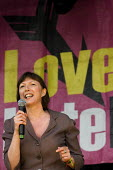 Frances O'Grady TUC. Love Music Hate Racism Carnival celebrates the anniversary of Rock Against Racism. Victoria Park, East London. - Jess Hurd - 27-04-2008