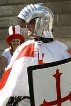 BNP mayoral candidate Richard Barnbrook celebrates St Georges Day. London. - Jess Hurd - 23-04-2008