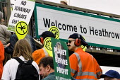 Protest against the third runway at Heathrow airport. West London. - Jess Hurd - 2000s,2008,3rd,activist,activists,against,anti,campaign,campaigner,campaigners,campaigning,CAMPAIGNS,carbon,Climate Change,DEMONSTRATING,demonstration,DEMONSTRATIONS,emissions,ENI Environmental Issues