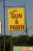 Jo Jo's Gun and Pawn shop advert. Birmingham, Alabama, USA. - Jess Hurd - 16-06-2008