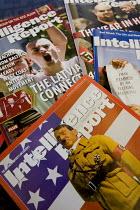 Copies of Intelligence Report a white supremacist monitoring magazine. Montgomery, Alabama, USA. - Jess Hurd - 19-06-2008