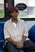 Rosa Parks memorial seat on a bus. Miami, Florida. America - Jess Hurd - 11-06-2008