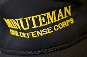 Minutemen cap. Minutemen are an armed vigilante group watching the US border for illegal entry. San Diego, California. USA. - Jess Hurd - 05-07-2008
