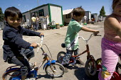 Via Candoni Roma gypsy camp. The Roma people are originally from the Balkan States. South West Rome, Italy. - Jess Hurd - 2000s,2008,BAME,BAMEs,bicycle,bicycles,BICYCLING,Bicyclist,Bicyclists,BIKE,BIKES,BME,bmes,Bosnian,bosnians,child,CHILDHOOD,children,CYCLE,cycles,cycling,Cyclist,Cyclists,diversity,EQUALITY,ethnic,ethn