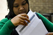 Students get their A Level results, Sir John Cass Foundation and Redcoat School in Stepney, Tower Hamlets, East London. - Jess Hurd - 2000s,2008,adolescence,adolescent,adolescents,Asian,asians,BAME,BAMEs,Bangladeshi,Bangladeshis,Bengali,Black,BME,BME Black minority ethnic,bmes,child,CHILDHOOD,children,cities,city,diversity,dress,eas