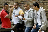 Students get their A Level results, Sir John Cass Foundation and Redcoat School in Stepney, Tower Hamlets, East London. - Jess Hurd - 2000s,2008,adolescence,adolescent,adolescents,Asian,asians,BAME,BAMEs,Bangladeshi,Bangladeshis,Bengali,Black,BME,BME Black minority ethnic,bmes,child,CHILDHOOD,children,cities,city,diversity,east end,