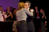 Gordon Brown Prime Minister with his wife Sarah, Labour Party Conference. Manchester. - Jess Hurd - 2000s,2008,kiss,KISSING,Minister,Party,POL Politics