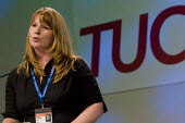 Michelle Stanistreet NUJ. TUC Congress 2008. - Jess Hurd - .,2000s,2008,Conference,conferences,congress,FEMALE,member,member members,members,people,person,persons,Trade Union,Trade Union,trade unions,Trades Union,Trades Union,trades unions,TUC,TUC Congress,TU