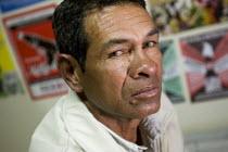 Luis Hernn Manco Monroy, ex President Carepa Sinaltrainal, plaintif court case. Coca Cola interviews. Bogota, Colombia. - Jess Hurd - 13-02-2008