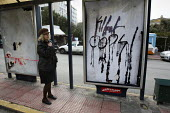 Anti police graffiti from demonstrations called after the fatal shooting by the police on Dec. 6 of a 15-year-old, Alexandros Grigorolopoulos. Athens, Greece - Jess Hurd - 23-12-2008