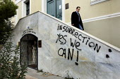 Revolutionary graffiti during demonstrations called after the fatal shooting by the police on Dec. 6 of a 15-year-old, Alexandros Grigorolopoulos. Athens, Greece - Jess Hurd - 23-12-2008