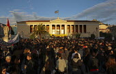 Concert outside the University building called after the fatal shooting by the police on Dec. 6 of a 15-year-old, Alexandros Grigorolopoulos. Athens, Greece - Jess Hurd - 2000s,2008,activist,activists,adult,adults,Alexandros,Anti Capitalist,building,BUILDINGS,CAMPAIGN,campaigner,campaigners,CAMPAIGNING,CAMPAIGNS,capitalism,capitalist,Concert,CONCERTS,DEMONSTRATING,demo