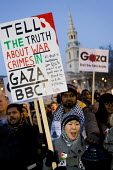Gaza protest against the BBC's refusal to broadcast a charity appeal to raise emergency funds for people in the Gaza strip. London. - Jess Hurd - 2000s,2009,activist,activists,against,appeal,BBC,broadcast,BROADCASTING,CAMPAIGN,campaigner,campaigners,CAMPAIGNING,CAMPAIGNS,charitable,charity,DEMONSTRATING,DEMONSTRATION,DEMONSTRATIONS,emergency,FE