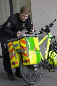 London NHS Ambulance Service bicycle, East London. - Jess Hurd - 05-03-2009