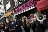 Vigil outside the Admiral Duncan 10 years since the homophobic nail-bomb attack where three people died. Soho. London. - Jess Hurd - 30-04-2009