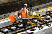 Working on the new East London overground line extension using modular GRP System FX mobile scanner for railway surveying. Dalston, East London. - Jess Hurd - 26-05-2009