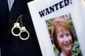 Hazel Blears MP Wanted poster. The Government of The Dead try to arrest MP's for fraudulent expenses claims. Westminster Parliament. London. - Jess Hurd - 01-06-2009
