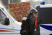 CRS riot police. No Borders March. Calais. France. - Jess Hurd - 27-06-2009