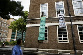 Students occupy the SOAS Principal, Paul Webley's office over the immigration raid and the deportation of 9 ISS subcontracted cleaners who had just had a unionising fair pay campaign. London. - Jess Hurd - 15-06-2009
