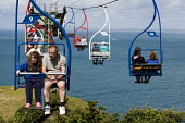Chairlift at the needles park at Alum Bay, Isle of Wight. - Jess Hurd - 25-07-2009