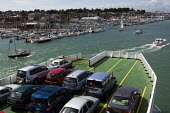 Red Funnel Ferries, passenger vehicle ferry leaving East Cowes port, Isle of Wight. - Jess Hurd - 25-07-2009