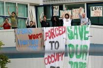 Save Vestas, Save the Planet. Occupation at the wind turbine plant, Isle of Wight. - Jess Hurd - 2000s,2009,activist,activists,CAMPAIGN,campaigner,campaigners,CAMPAIGNING,CAMPAIGNS,climate,Climate Change,DEMONSTRATING,demonstration,DEMONSTRATIONS,FACTORIES,factory,generator,generators,job,job cut