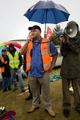Evening rally with Bob Crow RMT. Occupation at the Vestas wind turbine plant, Isle of Wight - Jess Hurd - 29-07-2009
