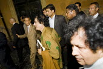 Colonel Gaddafi on a walk about in Rome during the G8 demonstrations Rome. Italy. - Jess Hurd - 2000s,2009,cities,city,eu,Europe,european,europeans,eurozone,Gaddafi,italian,italians,Libyan,Muammar,pol politics,urban,visit,visiting,visits