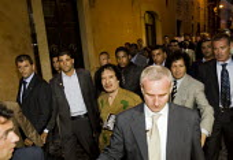 Colonel Gaddafi on walk about in Rome during the G8 demonstrations Rome. Italy. - Jess Hurd - 2000s,2009,cities,city,eu,Europe,european,europeans,eurozone,Gaddafi,italian,italians,Libyan,Muammar,pol politics,urban,visit,visiting,visits