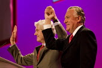 Peter Hain and Rhodri Morgan MP. Labour Party Conference. Brighton. - Jess Hurd - 27-09-2009