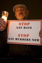 Candlelit vigil against gay hate crime. Trafalgar Square, London. - Jess Hurd - 30-10-2009