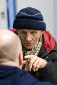 John gets some health advice from a volunteer medic. Crisis day centre opens at Bermondsey City of London Academy. Providing homeless and vulnerably housed people with a range of services, food and sh... - Jess Hurd - 23-12-2009