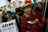 Indigenous people from Bolivia lead the march against COP15 United Nations Climate Change Conference, Copenhagen 2009, Denmark. - Jess Hurd - 2000s,2009,activist,activists,against,Amerindian,Amerindians,Bolivia,bolivian,bolivians,CAMPAIGN,campaigner,campaigners,CAMPAIGNING,CAMPAIGNS,Climate Change,Conference,conferences,danish,DEMONSTRATING