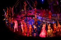 Artists perform at the Cirque du Soleil - Varekai - Royal Albert Hall, London. - Jess Hurd - 2010,2010s,ACE Arts Culture & Entertainment,acrobat,acrobatics,acrobats,applauding,applause,circus,cities,city,performance,performer,performers,performing,urban
