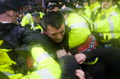 Police attack anti fascists. English Defence League march in Bolton against Islamic Extremism is countered by Unite Against Fascism. - Jess Hurd - 20-03-2010