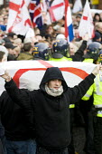 EDL members. English Defence League march in Bolton against Islamic Extremism is countered by Unite Against Fascism. - Jess Hurd - 20-03-2010