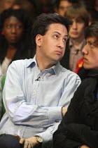 Ed Miliband as Gordon Brown launches Labour's Green Manifesto, Naim Dangoor Centre, Labour General Election Campaign, West London. - Jess Hurd - 25-04-2010