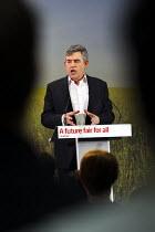 Gordon Brown launches Labour's Green Manifesto, Naim Dangoor Centre, Labour General Election Campaign, West London. - Jess Hurd - 25-04-2010