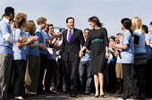 David Cameron and his wife Samantha arrive. Conservative Party launch their election Manifesto. Battersea Power Station, London. - Jess Hurd - 13-04-2010