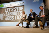 George Osborne, Ken Clarke and Theresa May hold a Press Conference responding to unemployment figures announced today. Milband, London. - Jess Hurd - 21-04-2010