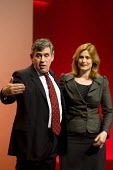 Gordon Brown farewell speech with Sarah. Labour Party Conference. Manchester. - Jess Hurd - 25-09-2010