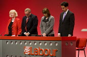 A minutes silence for Labour Party members who passed away including Michael Foot MP. Labour Party Conference. Manchester. - Jess Hurd - 26-09-2010