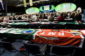 Empty seats after a walk out by RMT delegates during speech by Meryn King. TUC Manchester 2010. - Jess Hurd - 15-09-2010