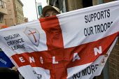 English Defence League protest. Leicester. Support our troops - Jess Hurd - 09-10-2010