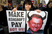 Make Ashcroft Pay. Coalition of Resistance march against the coalition government's proposed cuts to the public sector and welfare. - Jess Hurd - 2010,2010s,against,austerity cuts,Benefit cuts,Coalition,ConDem,cuts,member,member members,members,people,PROTEST,Protest Demonstrsation,protests,public,trade union,trade union,Trade Unions,trades uni