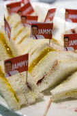 Ed Miliband Labour Party- Jammy jam sandwiches, Conservative Party Conference stand. Conservative Party Conference. Birmingham. - Jess Hurd - ,2010,2010s,Conference,conferences,food,FOODS,Labour Party,Party,POL Politics