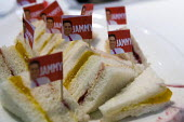 Ed Miliband Labour Party- Jammy jam sandwiches, Conservative Party Conference stand. Conservative Party Conference. Birmingham. - Jess Hurd - 2010,2010s,Conference,conferences,food,FOODS,Labour Party,Party,POL Politics