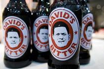 David's Bitter - David Miliband MP. Conservative Party Conference stand. Birmingham. - Jess Hurd - 2010,2010s,alcohol,beer,bottle,bottles,Conference,conferences,Labour Party,Party,POL Politics