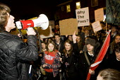 Sixth form pupils in opposition to fees and the scrapping of the Education Maintenance Allowance (EMA). They march to Finchley and Golders Green MP Mike Freer's office in Ballards Lane, to hand in a p... - Jess Hurd - 18-11-2010